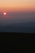 Sunset from Mount Washington in the White Mountains, New Hampshire USA