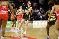 03.09.2017 South Africa's Erin Burger in action during the Quad Series netball match between England and South Africa at the ILT Stadium Southland in Invercargill. Mandatory Photo Credit ©Michael Bradley.