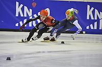 SHORTTRACK: AMSTERDAM: Jaap Edenbaan, 03-01-2016, NK Shorttrack, Jongens Junioren C, Niels Kingma (#93), ©foto Martin de Jong