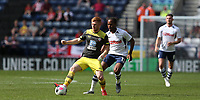 Southampton's Harrison Reed shields the ball from Preston North End's Daniel Johnson<br /> <br /> Photographer Stephen White/CameraSport<br /> <br /> Football Pre-Season Friendly - Preston North End v Southampton - Saturday July 20th 2019 - Deepdale Stadium - Preston<br /> <br /> World Copyright © 2019 CameraSport. All rights reserved. 43 Linden Ave. Countesthorpe. Leicester. England. LE8 5PG - Tel: +44 (0) 116 277 4147 - admin@camerasport.com - www.camerasport.com