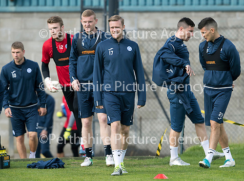 St Johnstone Training&hellip;.15.09.17<br />Denny Johnstone pictured during training this morning at McDiarmid Park ahead of tomorrow&rsquo;s game at Dundee<br />Picture by Graeme Hart.<br />Copyright Perthshire Picture Agency<br />Tel: 01738 623350  Mobile: 07990 594431
