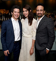 LOS ANGELES - SEPTEMBER 21: (L-R)  Thomas Kail, margaret Qualley, and Lin-Manuel Miranda attend the FX Networks & Vanity Fair Pre-Emmy Party at Craft LA on September 21, 2019 in Los Angeles, California. (Photo by Frank Micelotta/FX/PictureGroup)