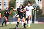 21 August 2016: North Carolina's Zoe Redei (15) and Charlotte's Riley Orr (14). The University of North Carolina Tar Heels hosted the University of North Carolina Charlotte 49ers in a 2016 NCAA Division I Women's Soccer match. UNC won the game 3-0
