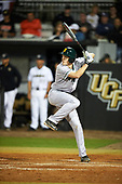 Siena Saints pinch hitter Ben Rhodes (18) at bat during a game against the UCF Knights on February 17, 2017 at UCF Baseball Complex in Orlando, Florida.  UCF defeated Siena 17-6.  (Mike Janes/Four Seam Images)