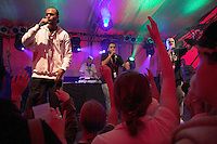 "Germany, Waltrop, 2006-Aug-29: The rap band ""Tsychofix"" performing on the Waltrop city festival."