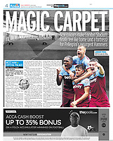Daily Mirror - 05-Oct-2019 - 'LONDON PRIDE Pellegrini's men are riding high in the table this season' - Photo by Rob Newell (Camerasport via Getty Images)