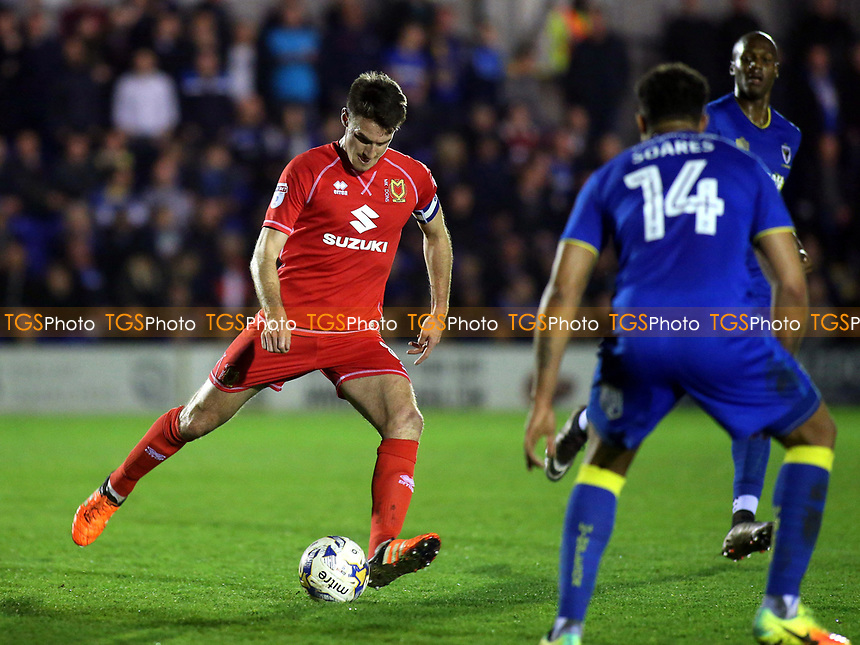 Darren Potter of MK Dons in action during AFC Wimbledon vs MK Dons, Sky Bet EFL League 1 Football at the Cherry Red Records Stadium on 14th March 2017