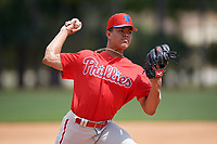 Philadelphia Phillies pitcher Dylan Castaneda (59) during an Instructional League game against the Detroit Tigers on September 19, 2019 at Tigertown in Lakeland, Florida.  (Mike Janes/Four Seam Images)