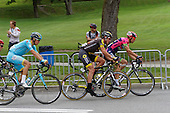 Cycling: 7th Grand Prix Cycliste de Montreal 2016. Alexandre Pichot (187)  of France for Team Direct Energie followed by Jakob Fuglsang (113)  of Denmark for Astana Pro Team  rider of . Sunday September 11 2016, Montreal Qc,