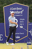 Bernd Wiesberger (AUT) on the 3rd tee during Round 1 of the Aberdeen Standard Investments Scottish Open 2019 at The Renaissance Club, North Berwick, Scotland on Thursday 11th July 2019.<br /> Picture:  Thos Caffrey / Golffile<br /> <br /> All photos usage must carry mandatory copyright credit (© Golffile | Thos Caffrey)