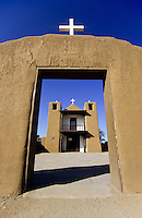 Clay church at Taos Pueblo in New Mexico, USA