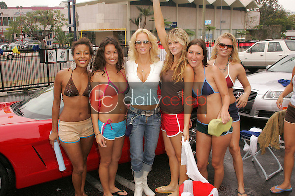 Barbara Moore and the car wash girls<br /> at the American Red Cross and American Apparel Celebrity Bikini Car Wash to benefit Hurricane Katrina Victims, Shelter Nightclub, West Hollywood, CA 09-24-05<br /> David Edwards/DailyCeleb.Com 818-249-4998
