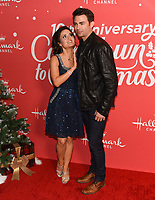 "20 November 2019 - Hollywood, California - Danica McKellar, Jonathan Bennett. Hallmark Channel's 10th Anniversary Countdown to Christmas - ""Christmas Under the Stars"" Screening and Party. Photo Credit: Billy Bennight/AdMedia"