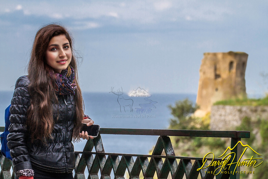 Italian girl, Amalfi Coast, Italy