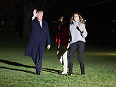 United States President Donald J. Trump, first lady Melania Trump, and their son Barron Trump, return to the White House in Washington, DC, November 26, 2017 after a multi-day trip to Florida over the Thanksgiving holiday.<br /> Credit: Chris Kleponis / Pool via CNP