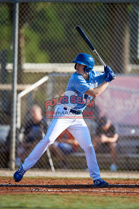 Brock Jones during the WWBA World Championship at the Roger Dean Complex on October 21, 2018 in Jupiter, Florida.  Brock Jones is a left handed pitcher from Chehalis, Washinton who attends W.F. West High School and is committed to Washington.  (Mike Janes/Four Seam Images)