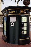 Pay toilet downtown San Francisco California USA.