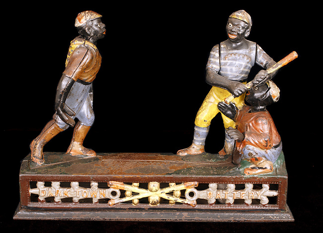 Baseball Collection: 19th Century 'Darktown Battery' Mechanical Toy Bank