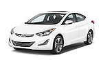 2015 Hyundai Elantra Sport 4 Door Sedan Angular Front stock photos of front three quarter view