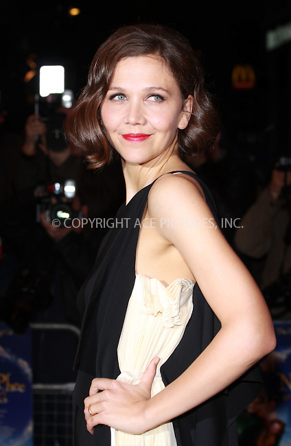 WWW.ACEPIXS.COM . . . . .  ..... . . . . US SALES ONLY . . . . .....March 24 2010, London....Actress Maggie Gyllenhaal arriving at the 'Nanny McPhee And The Big Bang' world film premiere at the Odeon West End on March 24, 2010 in London, England. ....Please byline: FAMOUS-ACE PICTURES... . . . .  ....Ace Pictures, Inc:  ..tel: (212) 243 8787 or (646) 769 0430..e-mail: info@acepixs.com..web: http://www.acepixs.com