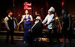 "Steve Tardio, Cassie Nadeau, John Guild, Eddie Varley and Lindsay Lavin during the Epress preview for ""Truffles: Music! Mushroom Murder!!!"" at Secret Room on November 15, 2019 in New York City."