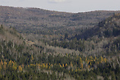 Landscape of mountains from Saint-Come, Quebec