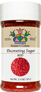10252 Nature's Colors Red Decorating Sugar, Small Jar 3.3 oz