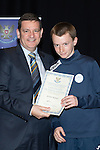 St Johnstone FC Youth Academy Presentation Night at Perth Concert Hall..21.04.14<br /> Chairman Steve Brown presents to Jordan Walker<br /> Picture by Graeme Hart.<br /> Copyright Perthshire Picture Agency<br /> Tel: 01738 623350  Mobile: 07990 594431