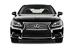 Car photography straight front view of a 2016 Lexus LS 600h L 4 Door Sedan Front View