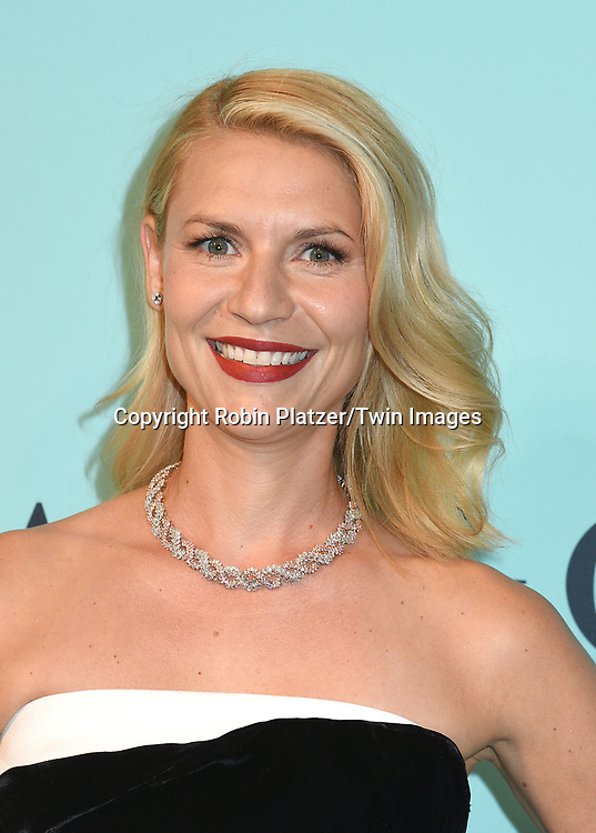 Claire Danes attends the Tiffany &amp; Co 2017 Blue Book Collection on April 21, 2017 at St Ann's Warehouse in Brooklyn, New York, USA.<br /> <br /> photo by Robin Platzer/Twin Images<br />  <br /> phone number 212-935-0770