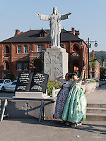 Jesus  bei der Kathedrale in Jeonju, Provinz Jeollabuk-do, Südkorea, Asien<br /> Jesus at Cathedral  in Jeonju, province Jeollabuk-do, South Korea, Asia