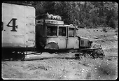 RGS Goose #4 stopped on track at Bilk for mail and express transfer to Telluride.<br /> RGS  Bilk, CO  ca. 1944