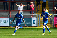 Peterborough United's Marcus Maddison celebrates scoring his side's first goal <br /> <br /> Photographer Richard Martin-Roberts/CameraSport<br /> <br /> The EFL Sky Bet League One - Fleetwood Town v Peterborough United - Friday 19th April 2019 - Highbury Stadium - Fleetwood<br /> <br /> World Copyright © 2019 CameraSport. All rights reserved. 43 Linden Ave. Countesthorpe. Leicester. England. LE8 5PG - Tel: +44 (0) 116 277 4147 - admin@camerasport.com - www.camerasport.com