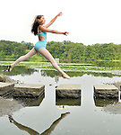 A Bat Mitzvah girl's ballet photo shoot in Rockefeller Preserve..