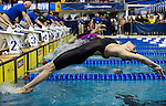 "19 MAR 2016: Tasija Karosas of Texas competes in the 200 Yard Backstroke ""B"" final during the Division I Women's Swimming & Diving Championship held at the Georgia Tech Aquatic Center in Atlanta, GA. David Welker/NCAA Photos"