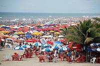 PRAIA GRANDE,SP,07 JANEIRO 2012 - MOVIMENTA&Ccedil;&Atilde;O PRAIASgrande <br /> Movimenta&ccedil;&atilde;o de turistas na manh&atilde; de hoje (07) na Cidade Ocian na Praia Grande litoral sul.FOTO ALE VIANNA - NEWS FREE.