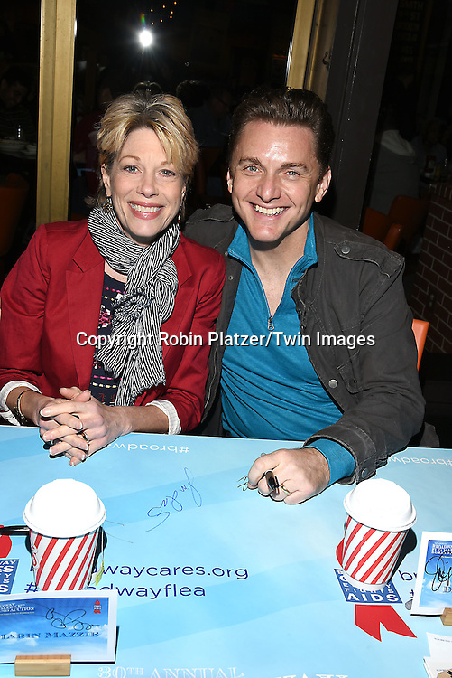 Marin Mazie and Jason Danieley attends the Broadway Cares/Equity Fights Aids Flea Market and Grand Auction on September 25, 2016 at the Music Box Theatre and in Shubert Ally in New York, New York, USA. <br /> <br /> photo by Robin Platzer/Twin Images<br />  <br /> phone number 212-935-0770