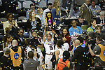 DALLAS, TX - APRIL 2: Tiffany Davis #15 of the South Carolina Gamecocks reacts after defeating the Mississippi State Lady Bulldogs during the 2017 Women's Final Four at American Airlines Center on April 2, 2017 in Dallas, Texas. (Photo by Evert Nelson/NCAA Photos via Getty Images)
