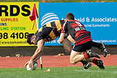 Mitchell Thackham dives over in the corner, ahead of Jamie Thackham only to be called back for a forward pass. Counties Manukau Premier Club Rugby game between Papakura and Bombay, played at Massey Park Papakura on Saturday June 16th 2018. Bombay won the game 36 - 17 after leading 17 - 7 at halftime.<br /> Papakura Ray White 17 - Kris Smithson 2, Taafaga Tagaloa tries, Monty Punatai conversion.<br /> Bombay 36 - Jordan Goldsmith, Haamiora Clarke 2, Patrick Masoe, Mitchell Thackham, Chay Mackwood tries, Jordan Goldsmith 2, Ki<br /> Anufe conversions.<br /> Photo by Richard Spranger.