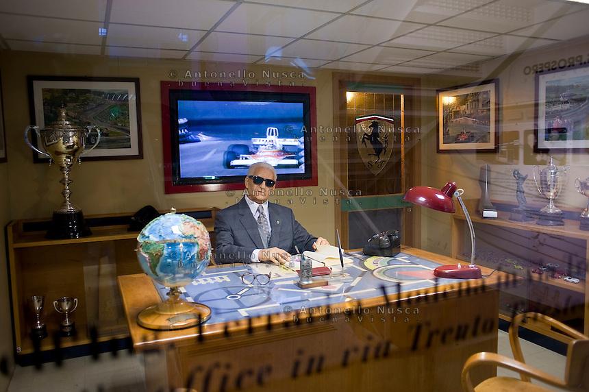 Una riproduzione dell'ufficio di Enzo Ferrari nel Museo Ferrari di Maranello..A replica of the Enzo Ferrari's office at the Ferrari's Museum in Maranello