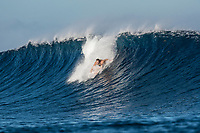 Namotu Island Resort, Nadi, Fiji (Tuesday, May 22nd 2018): The swell had dropped back over night  and was in the 6'' plus range. Swimming Pools and Namotu Lefts were the spots for the guests who surfed before the tide got too high. Cloudbreak was crowded and in the 6'-8'' range with swell from the South and South West swell. <br /> Photo: joliphotos.com