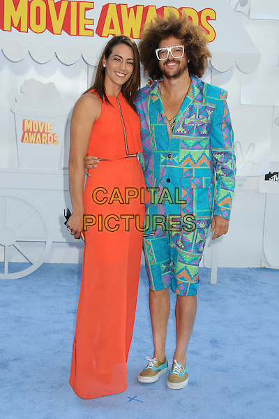 12 April 2015 - Los Angeles, California - Redfoo, Stefan Kendal Gordy, LMFAO. 2015 MTV Movie Awards - Arrivals held at Nokia Theatre LA Live. <br /> CAP/ADM/BP<br /> &copy;BP/ADM/Capital Pictures