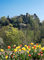 Germany, Baden-Wuerttemberg, Markgraefler Land, health resort Badenweiler: ruin of castle Baden | Deutschland, Baden-Wuerttemberg, Markgraeflerland, Kurort Badenweiler: Ruine der Burg Baden