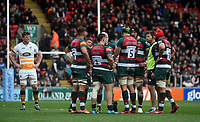 Leicester Tigers have a team talk<br /> <br /> Photographer Hannah Fountain/CameraSport<br /> <br /> Gallagher Premiership - Leicester Tigers v Wasps - Saturday 2nd March 2019 - Welford Road - Leicester<br /> <br /> World Copyright © 2019 CameraSport. All rights reserved. 43 Linden Ave. Countesthorpe. Leicester. England. LE8 5PG - Tel: +44 (0) 116 277 4147 - admin@camerasport.com - www.camerasport.com