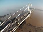 Aerial view of the Severn Bridge.. .02.03.13.©Steve Pope