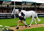 30th August 2017. Sophie Brown (GBR) riding Wil during the First Horse Inspection of the 2017 Burghley Horse Trials, Stamford, United Kingdom. Jonathan Clarke/JPC Images