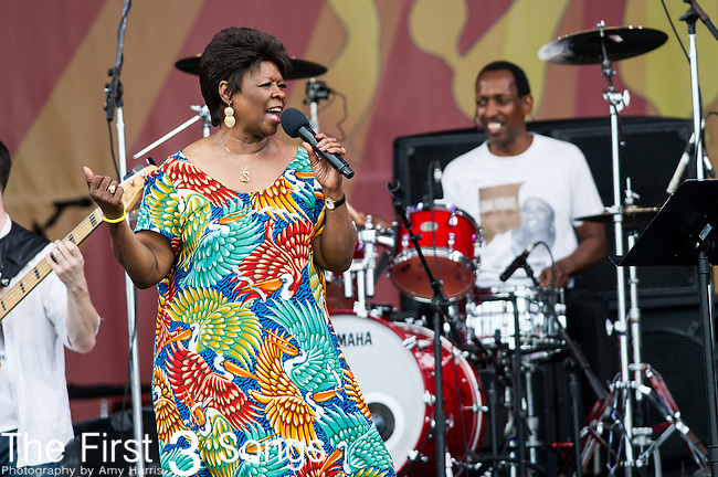 Irma Thomas performs during the New Orleans Jazz & Heritage Festival in New Orleans, LA.