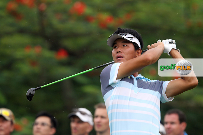 Wu Ashun (CHN) on the 17th during the resumed Round 3 of the 2013 Maybank Malaysian Open, Kuala Lumpur Golf and Country Club, Kuala Lumpur, Malaysia 24/3/13...(Photo Jenny Matthews/www.golffile.ie)