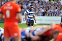 Kyle Eastmond of Bath Rugby watches a scrum. Aviva Premiership semi-final, between Bath Rugby and Leicester Tigers on May 23, 2015 at the Recreation Ground in Bath, England. Photo by: Patrick Khachfe / Onside Images