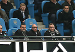 Owner of Newcastle Utd Mike Ashley (r) looks on - Barclays Premier League - Manchester City vs Newcastle Utd - Etihad Stadium - Manchester - England - 21st February 2015 - Picture Simon Bellis/Sportimage